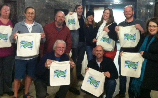 April 9th City Council Meeting~ the council members also receive a Rise Above Plastic Bag!